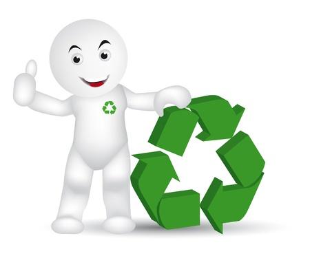 지구 보호를위한 재활용하십시오