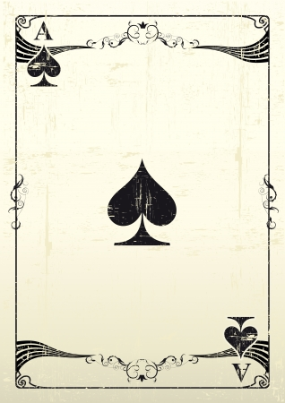 ace of spades: An Ace Of Clubs with a texture  Illustration