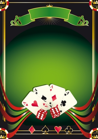 card game: A new poster with aces for your Poker  tournament