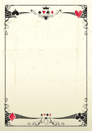 A grunge card frame for a poster  Vector
