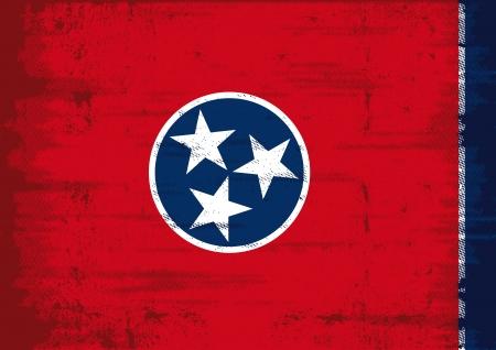 tennessee: Bandera de Tennessee con una textura