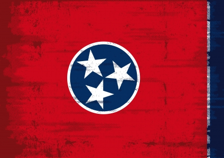 Tennessee flag with a texture Vector