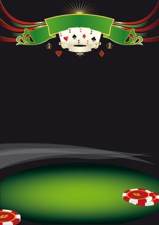 에이스: 카지노 포스터이 배경을 사용하여 일러스트