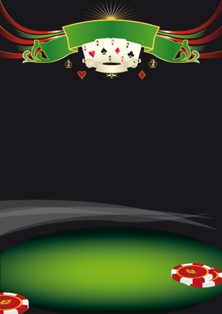 Use this background for a poster for a casino Vector