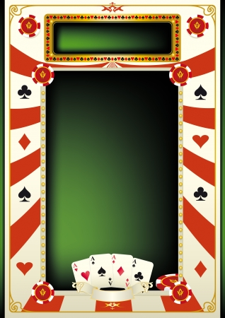 A background for a tournament of poker Vector