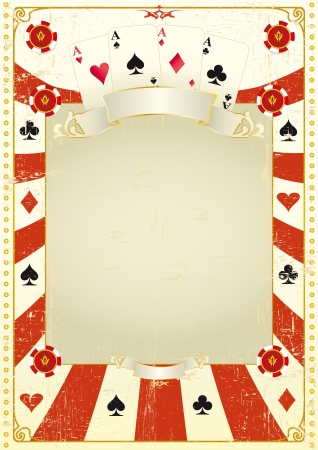 poker cards: A grunge card frame for a poster  Illustration