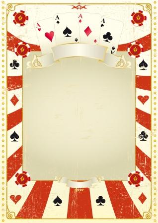 Un marco de tarjeta de grunge para un cartel