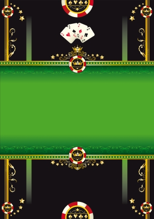 poker cards: A poster for a poker tournament
