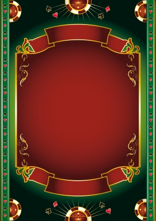 ace hearts: Background with gambling elements for a poster
