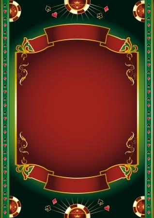 cartas de poker: Fondo con elementos de juego para un cartel
