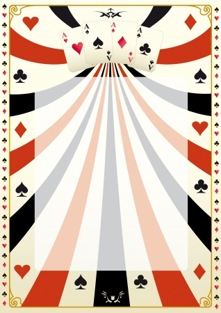 game show: A poker background for your poker tour  Illustration