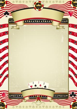 kartenspiel: Ein Grunge-Tapete f�r einen Hintergrund Poster Illustration