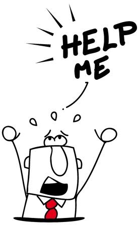 d�bord�: Un homme d'affaires chute dans un trou Illustration