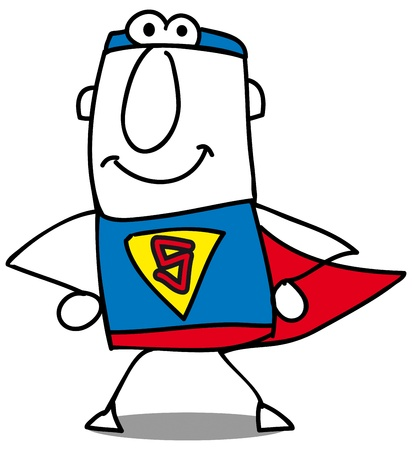 super businessman is ready for action Vector