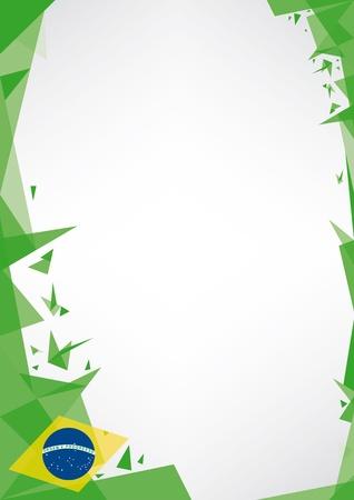 une conception de fond style origami pour une très belle affiche