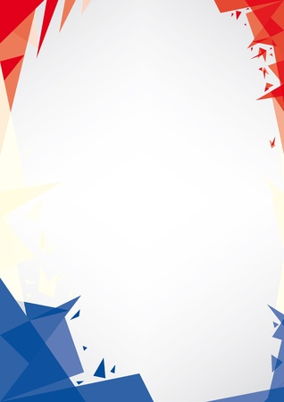 patriotic border: a design background  Origami style  for a very nice french poster Illustration