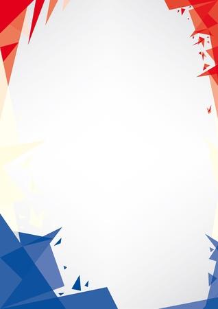 bandera francia: un dise�o de estilo de fondo Origami por un muy buen cartel franc�s Vectores