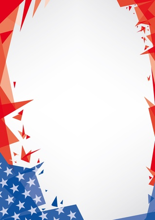 triangle flag: A trendy american background for your publicity  Origami style