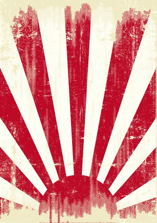 An old japan grunge flag for you Vector