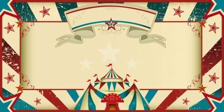 Une carte d'invitation pour votre compagnie de cirque Banque d'images - 21746788