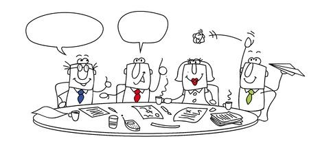 Gruppe von Managern an einen Tisch Standard-Bild - 21997859