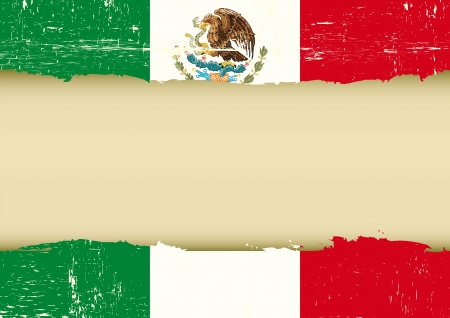 A used mexican Flag for this poster Stock Vector - 22010414