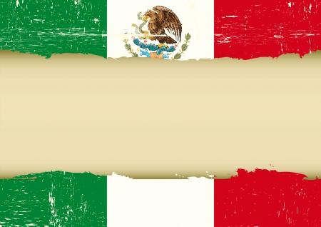 mexican flag: Una bandiera messicana usata per questo inserzionista Vettoriali