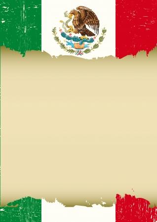 このポスターのために使用されるメキシコの旗