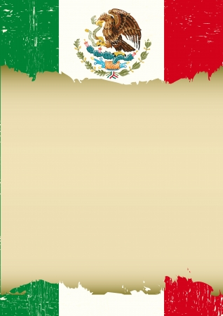 turismo: Una bandera mexicana utilizada para este cartel