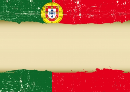 A used Flag of Portugal for this poster  Vector