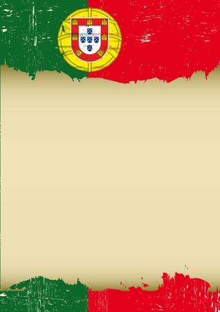 A used portuguese Flag for this poster  Vector