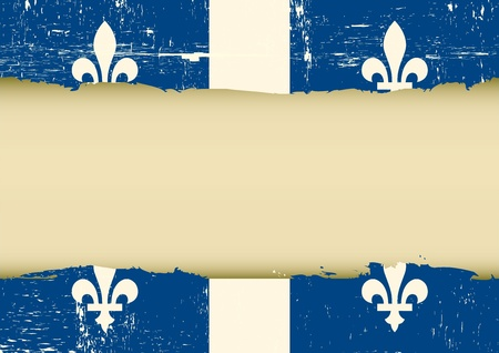 A used quebec Flag with a large frame Vector