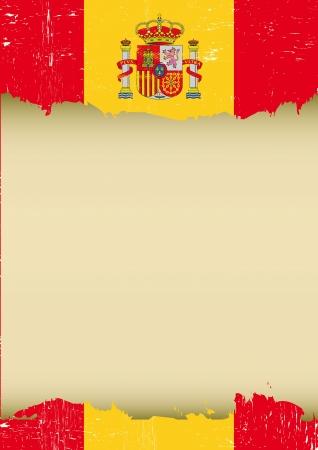 このポスターについて使われるスペイン語フラグ  イラスト・ベクター素材