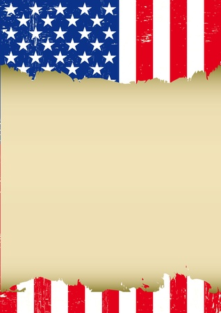independance: A used american Flag for this poster