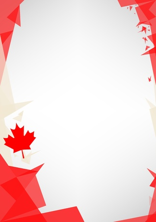 patriotic border:  a design background  Origami style  for a very nice canadian poster Illustration