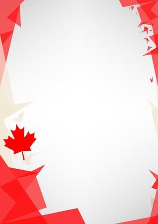 patriotic border: un dise�o de estilo de fondo Origami por un muy buen cartel canadiense
