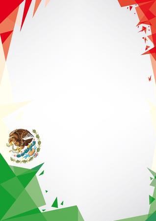 愛国心: とても素敵なメキシコ ポスターのための折り紙スタイルのデザインの背景