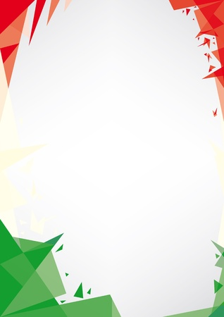 italian flag: a design background  Origami style  for a very nice Italianposter