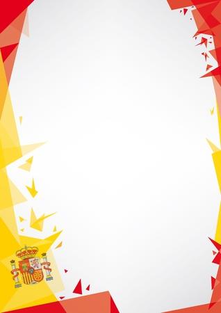 非常に素晴らしいスペイン ポスターのための折り紙スタイルのデザインの背景
