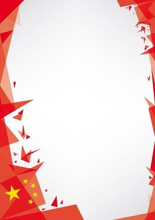 translating:  a design background  Origami style  for a very nice poster of china Illustration