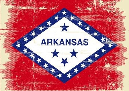 Flag of Arkansas with a texture  Stock Vector - 22174746