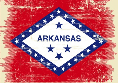 Flag of Arkansas with a texture Stock Vector - 22174746