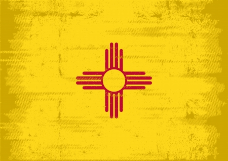 us grunge flag: Flag of New Mexico with a texture