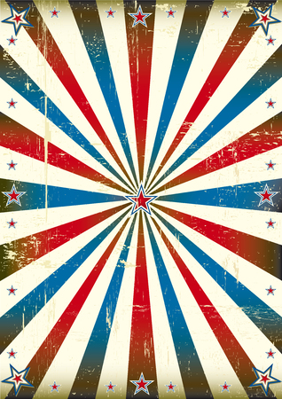us grunge flag: A vintage poster with sunbeams for you