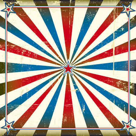 us grunge flag: A square vintage poster for your advertising