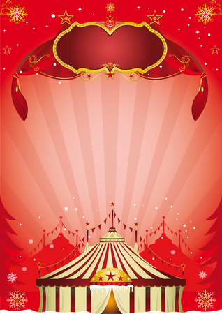 A new circus poster for christmas Vector