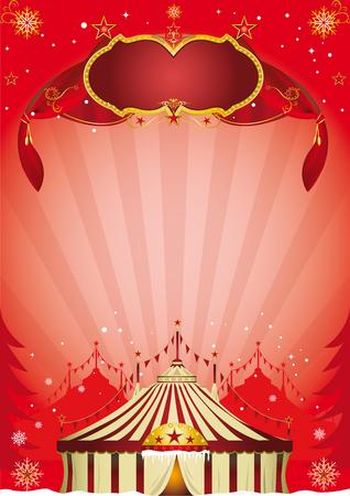 kerst markt: Een nieuwe circus poster voor kerst