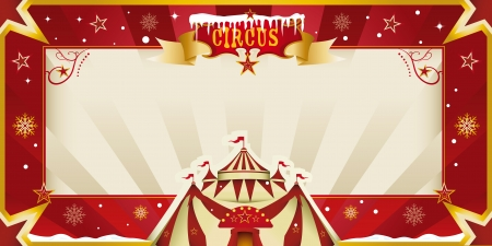 Fantastic christmas circus invitation Vector
