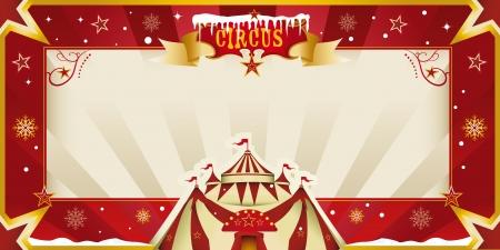 31: Fantastic christmas circus invitation