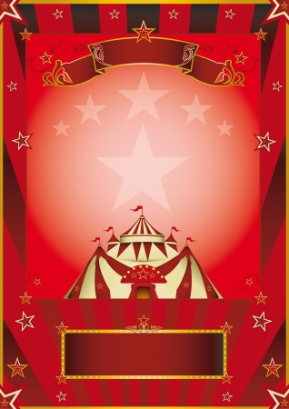 A new circus poster for your company  Vector